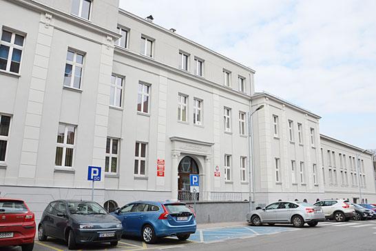 Zdjęcie pokazujące główną siedzibę WSZOP: ul.Bankowa 8 wKatowicach