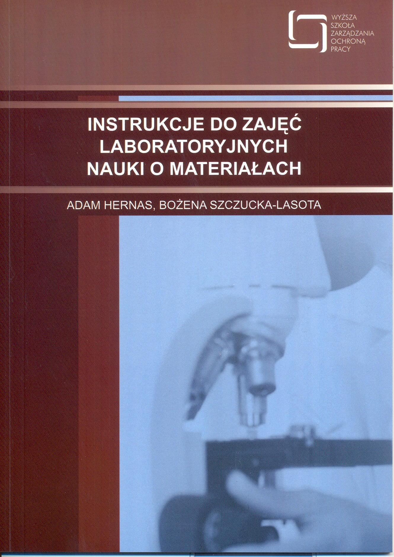 Okładka Instrukcje dozajęć laboratoryjnych nauki omateriałach
