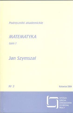 Okładka Matematyka – tom I